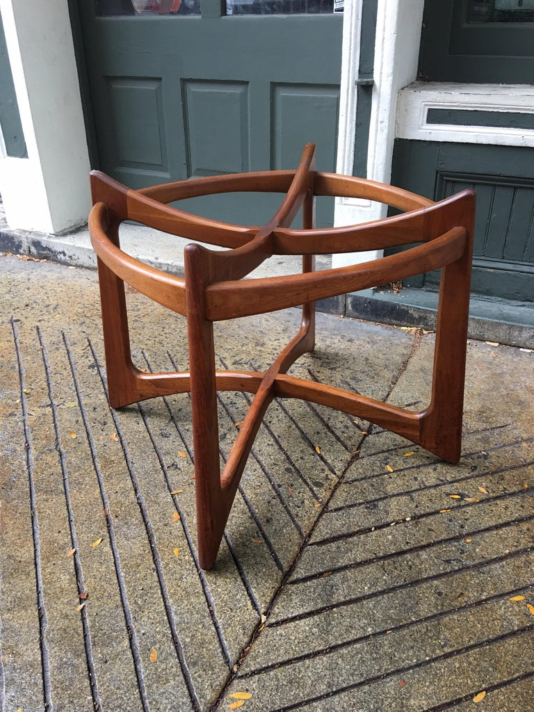 Adrian Pearsall for Craft Associates Walnut and Glass Dining Table For Sale 1