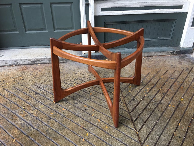 Adrian Pearsall for Craft Associates Walnut and Glass Dining Table For Sale 2