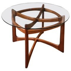 Adrian Pearsall for Craft Associates Walnut and Glass Dining Table