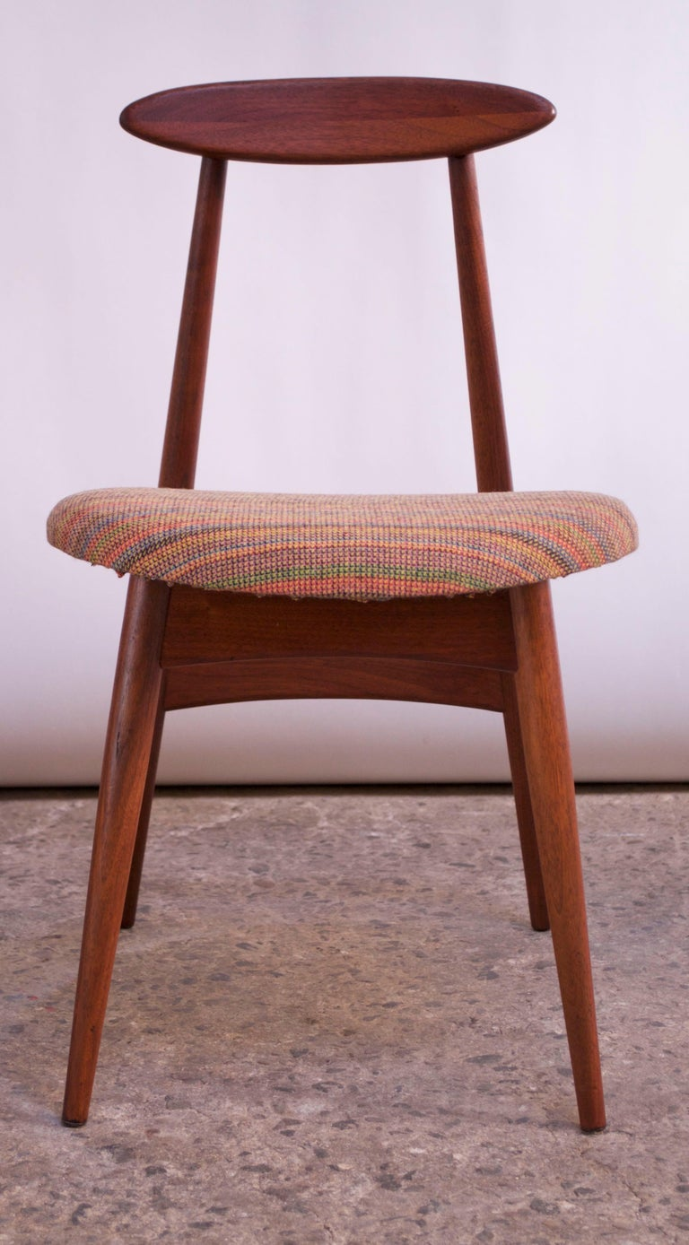 Mid-20th Century Adrian Pearsall for Craft Associates Walnut Desk or Accent Chair Model #909 For Sale
