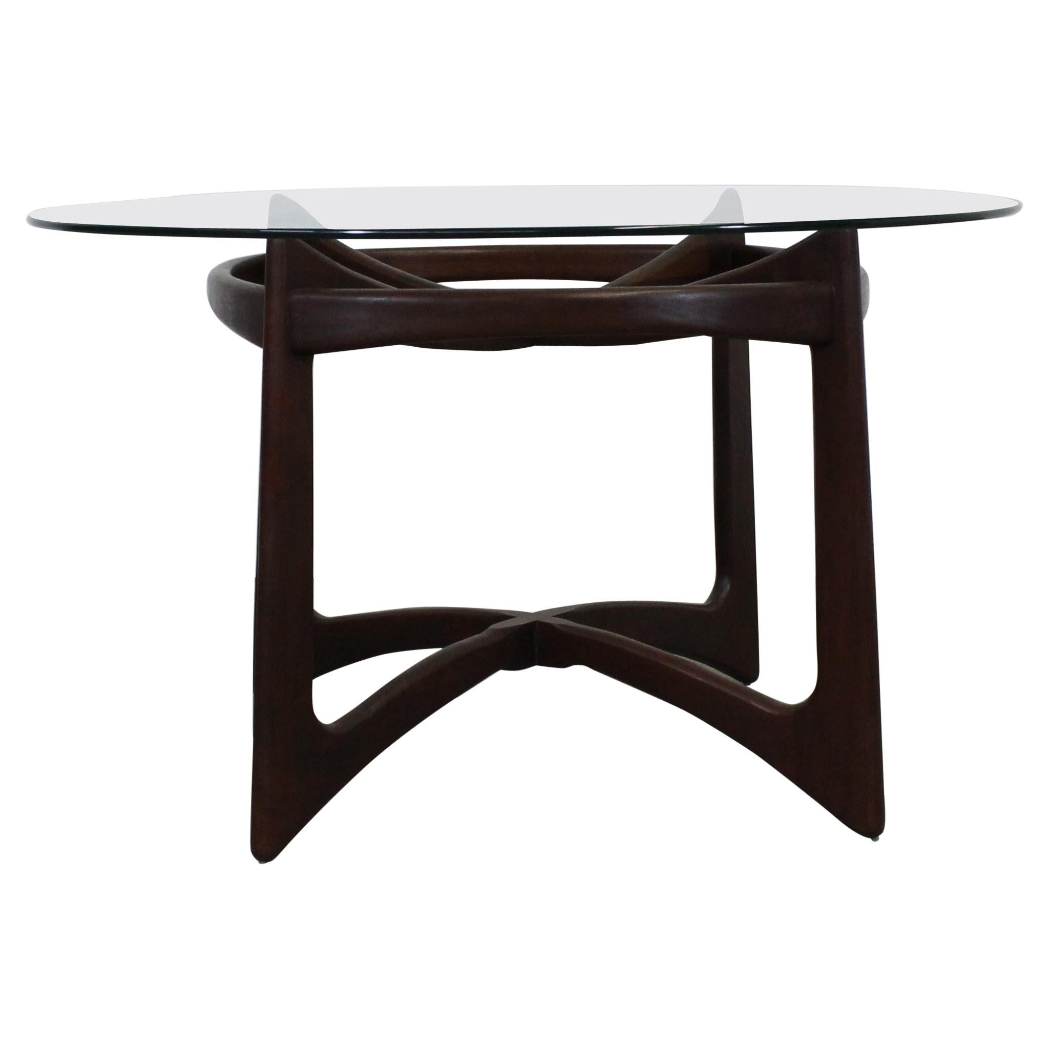 """Adrian Pearsall Glass Top """"Compass"""" Dining Table"""