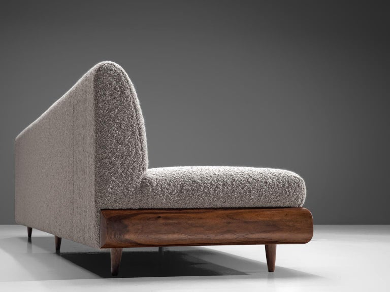 Mid-20th Century Adrian Pearsall Grand Boomerang Sofa Upholstered in Luxurious Pierre Frey For Sale