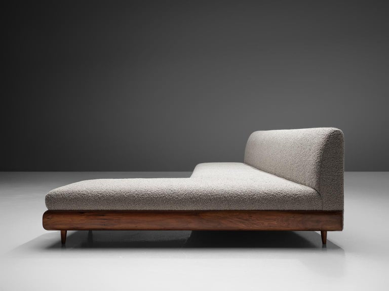 Wool Adrian Pearsall Grand Boomerang Sofa Upholstered in Luxurious Pierre Frey For Sale