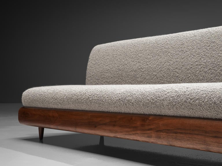 Adrian Pearsall Grand Boomerang Sofa Upholstered in Luxurious Pierre Frey For Sale 1