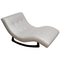 Adrian Pearsall Gray Chaise Lounge Rocker Upholstered Mid-Century Modern
