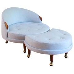 Adrian Pearsall Havana Chair and Ottoman