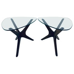 Adrian Pearsall Jacks Walnut Side Tables for Craft Associates, a Pair