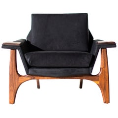 Adrian Pearsall Leather Lounge Chair for Craft Associates Inc.