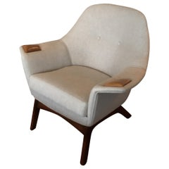 Adrian Pearsall  Linen Lounge Chair