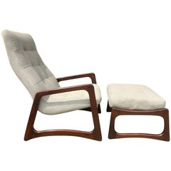 Adrian Pearsall Lounge Chair and Ottoman for Craft Associates, Restored