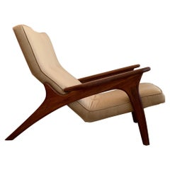Adrian Pearsall Lounge Chair and Ottoman in Walnut