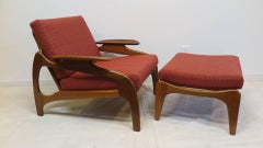 Adrian Pearsall  Lounge Chair with Ottoman Model 1209C