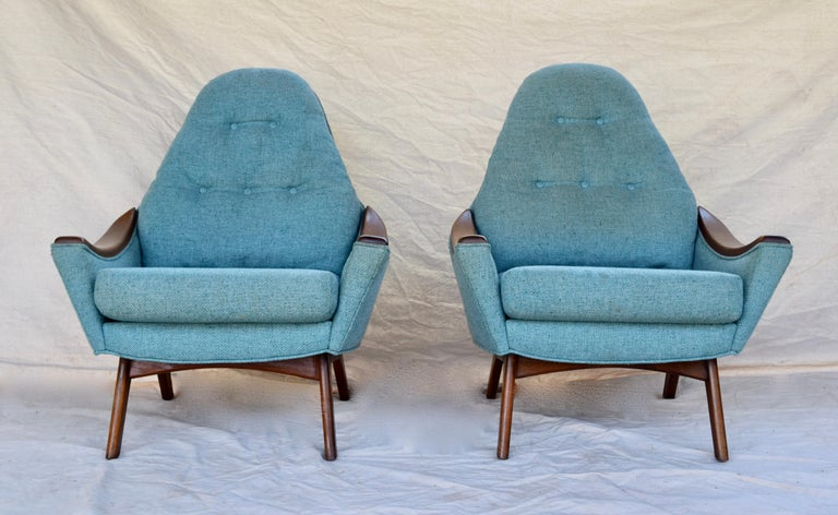 Mid-Century Modern Adrian Pearsall Lounge Chairs For Sale