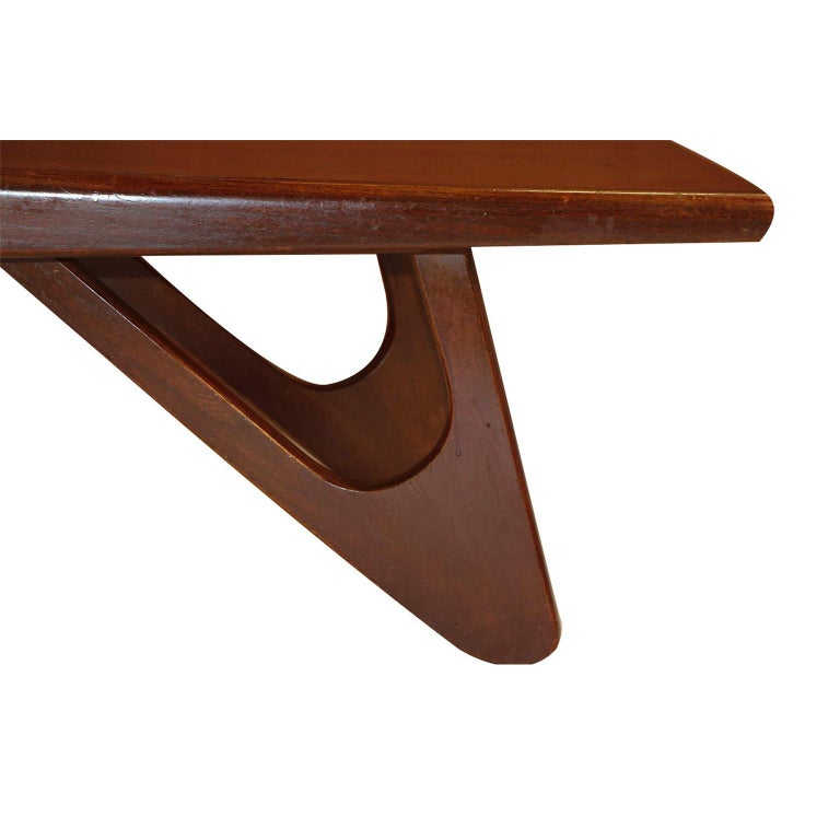 Mid-Century Modern Adrian Pearsall Midcentury Biomorphic Walnut Coffee Table For Sale