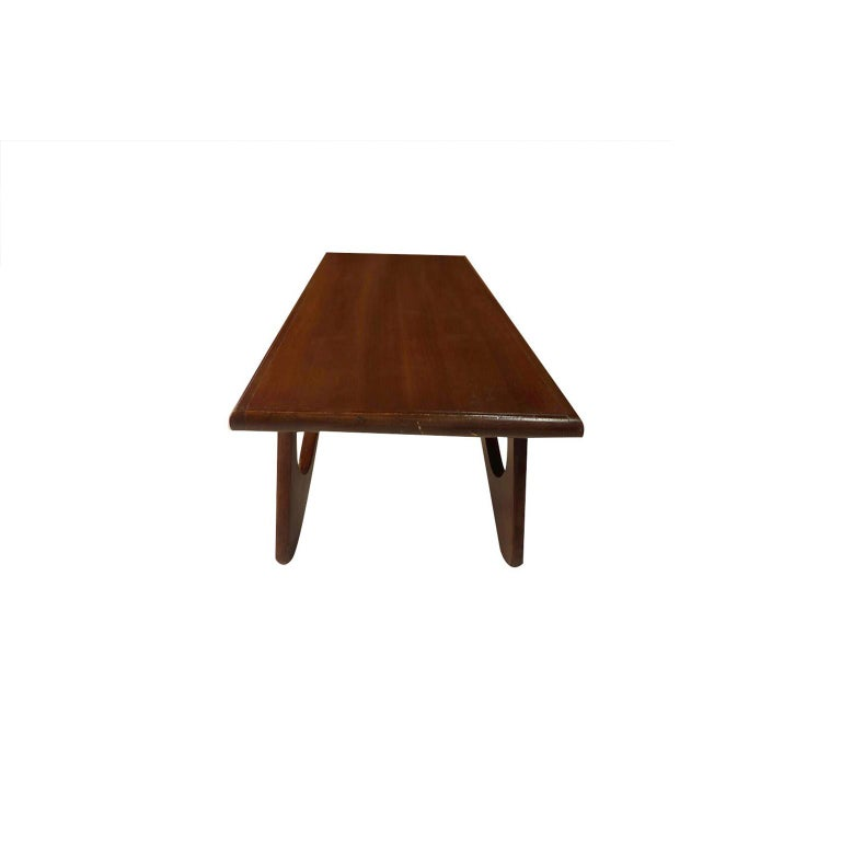 American Adrian Pearsall Midcentury Biomorphic Walnut Coffee Table For Sale
