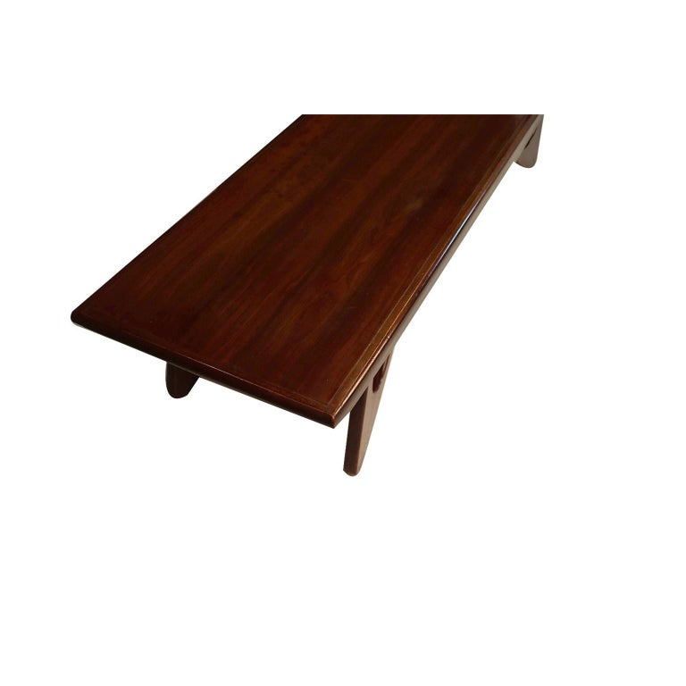 Adrian Pearsall Midcentury Biomorphic Walnut Coffee Table In Good Condition For Sale In Baltimore, MD