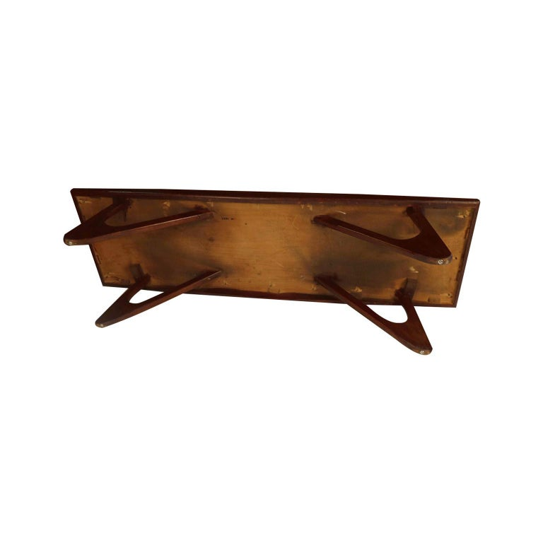 Adrian Pearsall Midcentury Biomorphic Walnut Coffee Table For Sale 2