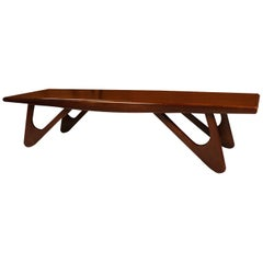 Adrian Pearsall Midcentury Biomorphic Walnut Coffee Table