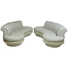 Adrian Pearsall Mid-Century Modern Cloud Kidney Shaped Sofa, One Available
