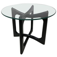 Adrian Pearsall Mid-Century Modern End Table in Black Lacquer