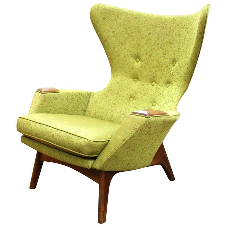 Mid Century Chairs For Sale: Adrian Pearsall Mid-Century Modern High Back Wing Chair