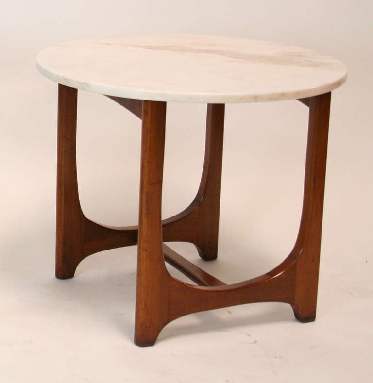 20th Century Adrian Pearsall Mid-Century Modern Marble Top Side Table For Sale