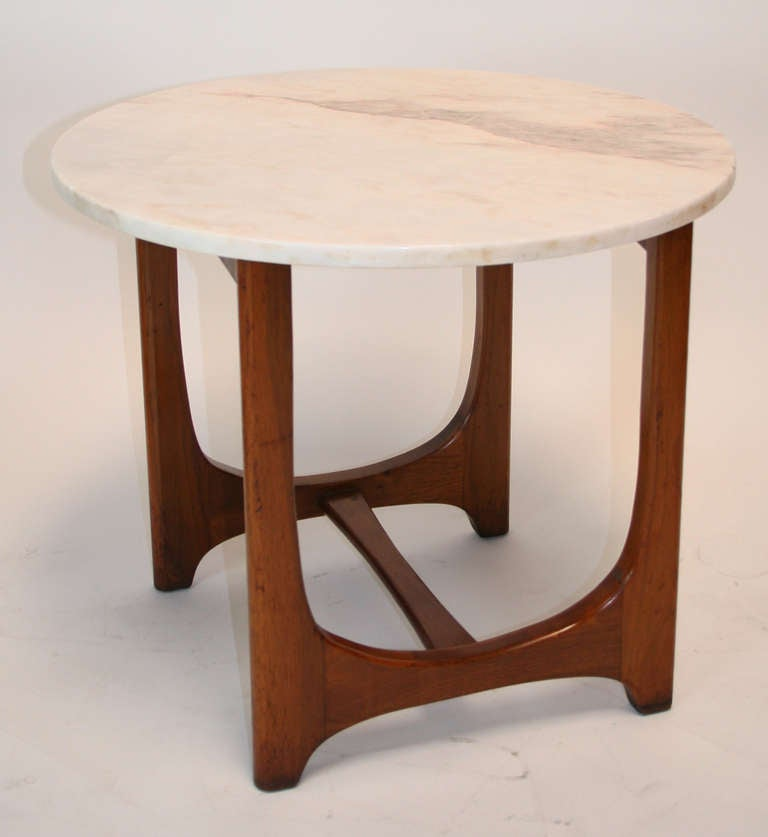 Adrian Pearsall Mid-Century Modern Marble Top Side Table For Sale 1