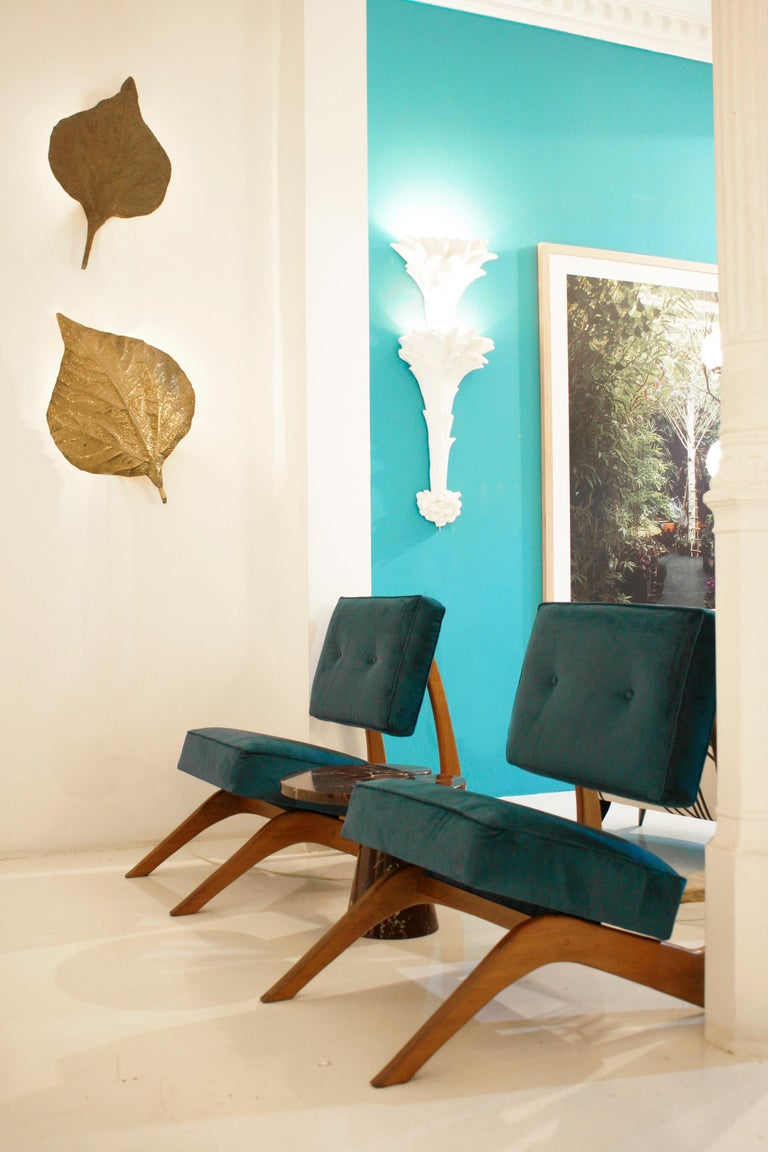 Adrian Pearsall Mid-Century Modern Walnut Pair of American Lounge Chairs For Sale 7