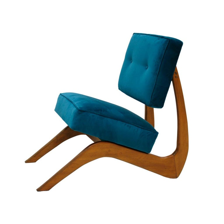 Mid-20th Century Adrian Pearsall Mid-Century Modern Walnut Pair of American Lounge Chairs For Sale