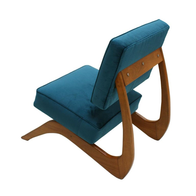 Adrian Pearsall Mid-Century Modern Walnut Pair of American Lounge Chairs For Sale 2