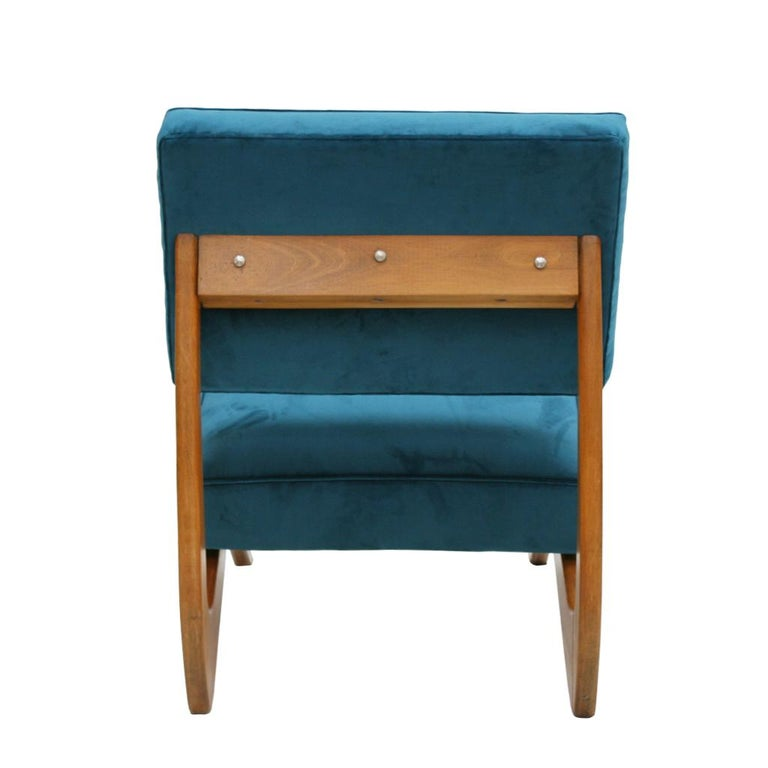 Adrian Pearsall Mid-Century Modern Walnut Pair of American Lounge Chairs For Sale 3