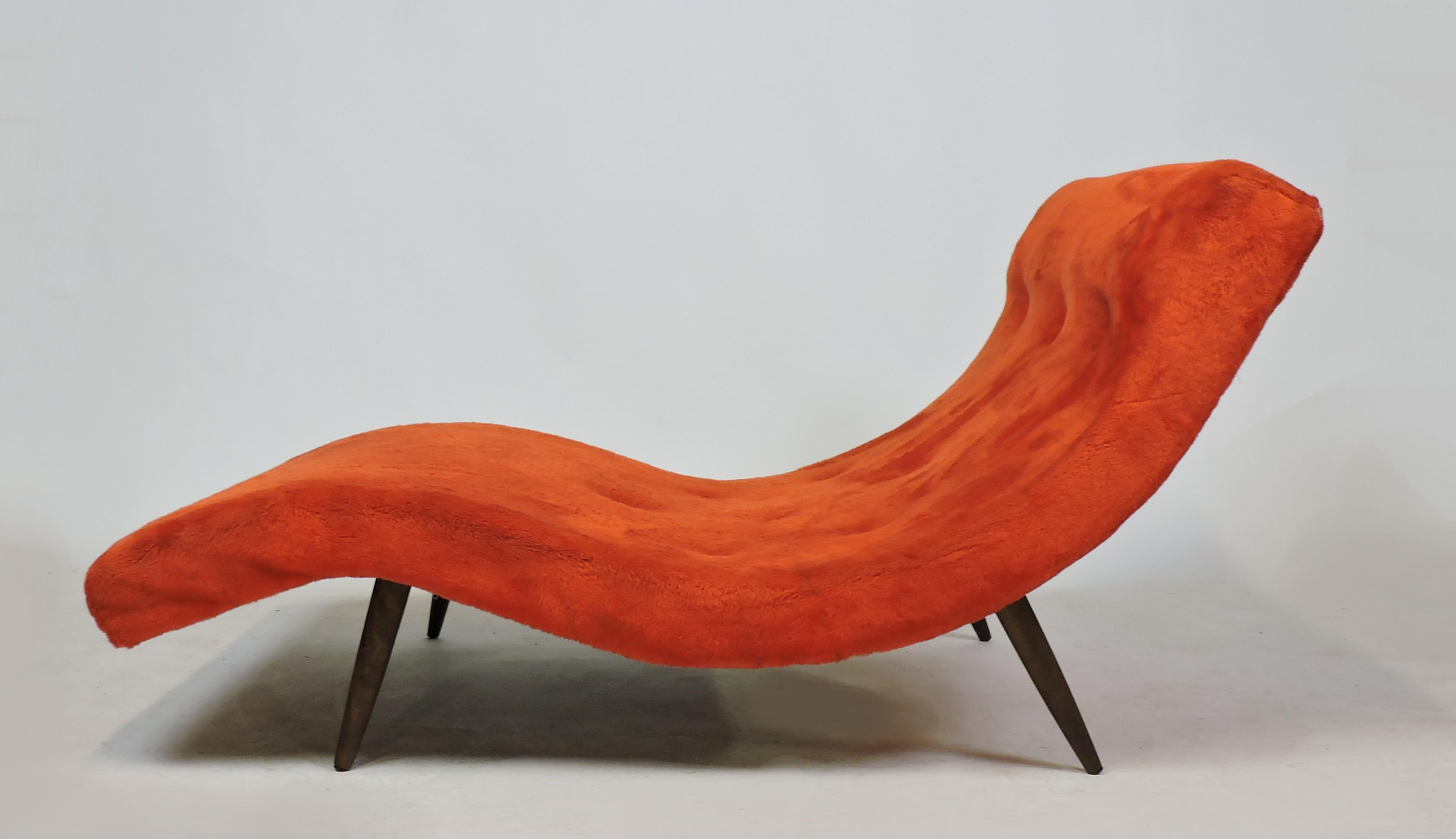 Stupendous Adrian Pearsall Mid Century Modern Wave Chaise Lounge Chair Sofa Model 108 C Andrewgaddart Wooden Chair Designs For Living Room Andrewgaddartcom