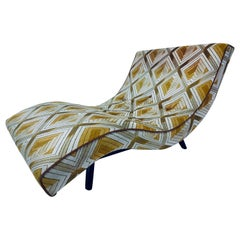 Adrian Pearsall Mid-Century Wave Chaise Lounge with Ebony Base for Craft Assoc.