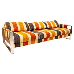 Adrian Pearsall Midcentury Chrome and Wood Sofa