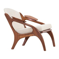 Adrian Pearsall Model 2249-C Walnut Lounge Chair for Craft Associates