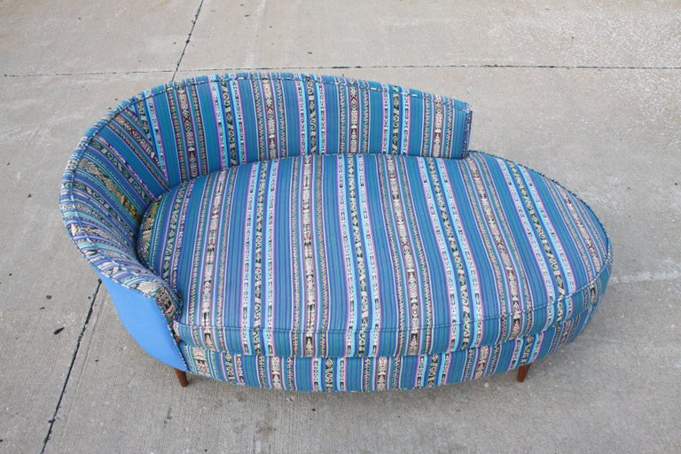 Mid-Century Modern Adrian Pearsall Oval Chaise Lounge Settee For Sale