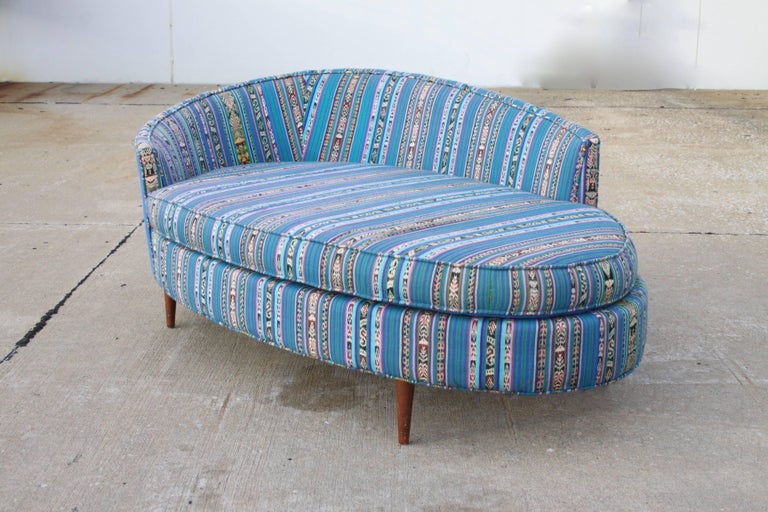 Mid-20th Century Adrian Pearsall Oval Chaise Lounge Settee For Sale