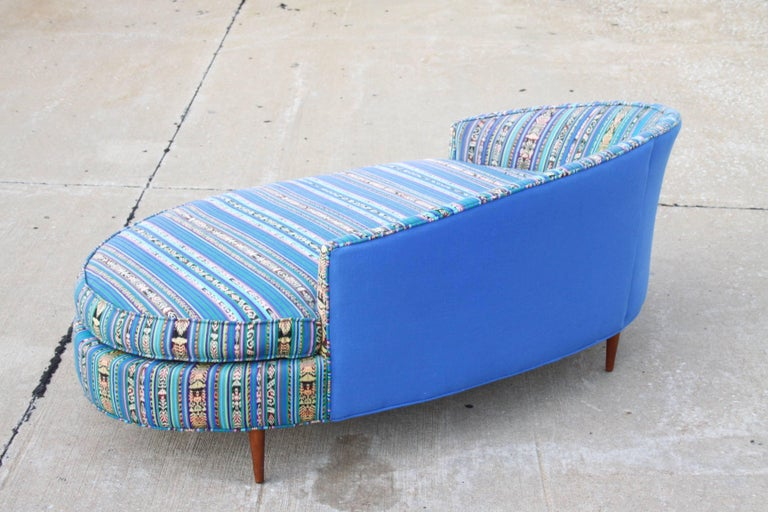 Upholstery Adrian Pearsall Oval Chaise Lounge Settee For Sale