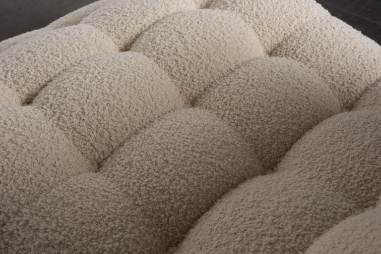 Adrian Pearsall Rare Brutalist 'Wave' Daybed in Alpaca Bouclé, 1960s, Signed For Sale 7