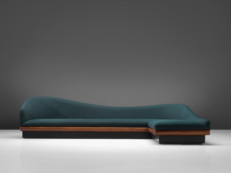 Mid-Century Modern Adrian Pearsall Restored and Reupholstered 'Cloud' Sofa For Sale
