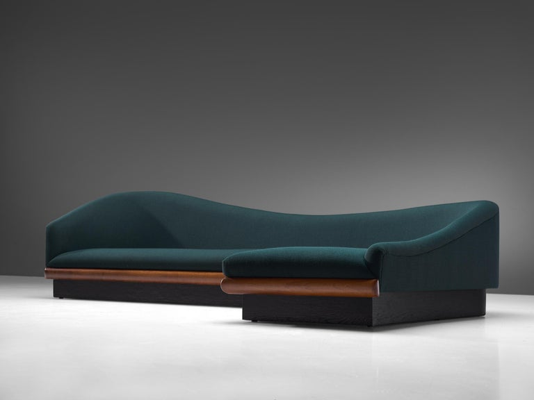 American Adrian Pearsall Restored and Reupholstered 'Cloud' Sofa For Sale