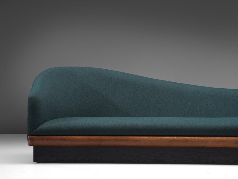 Fabric Adrian Pearsall Restored and Reupholstered 'Cloud' Sofa For Sale