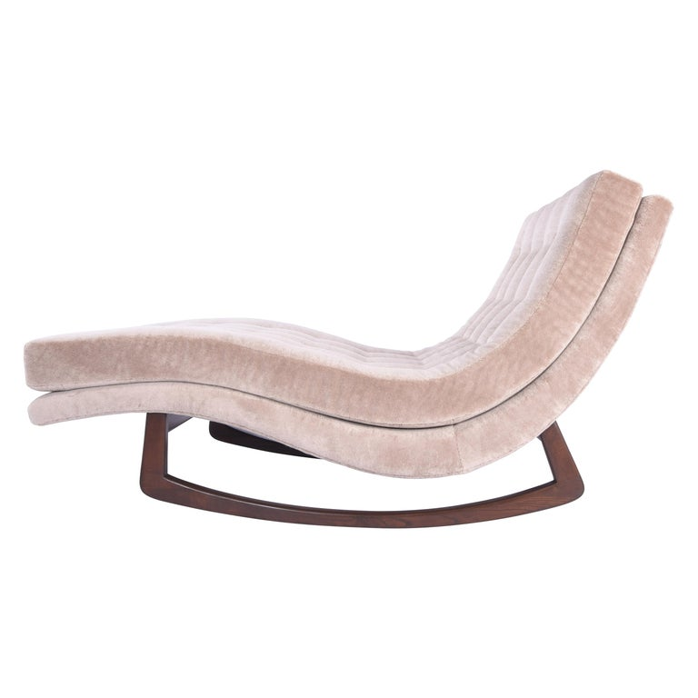 Tommy Bahama Outdoor Cushions, Adrian Pearsall Rocking Chaise Lounge With Walnut Base For Sale At 1stdibs