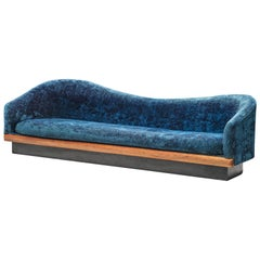 Adrian Pearsall Sea Blue 'Cloud' Sofa
