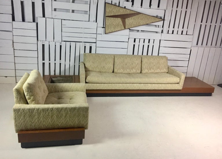 Adrian Pearsall Sectional Sofa In Fair Condition For Sale In West Hartford, CT