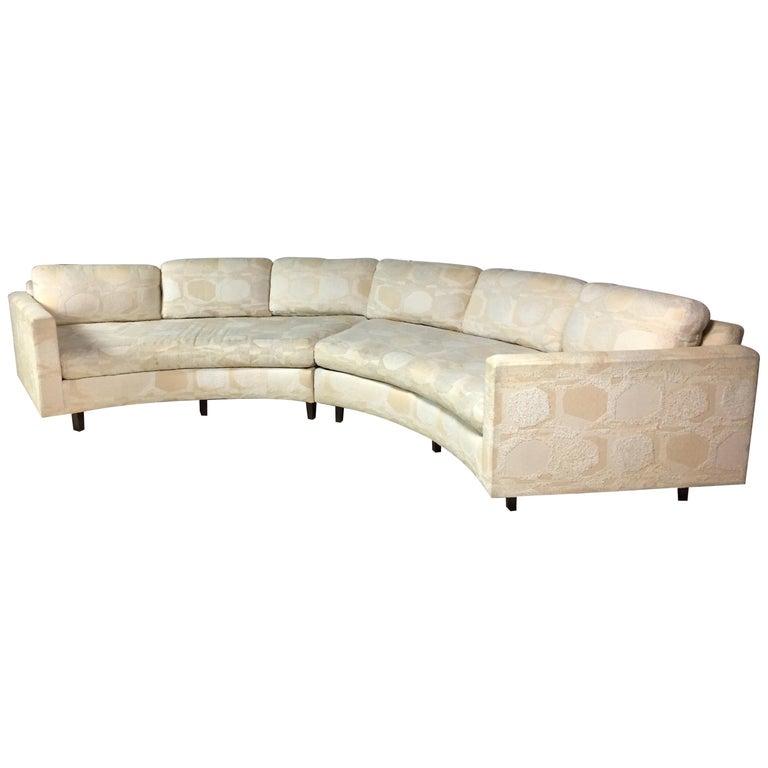 Adrian Pearsall Craft Associates Mid-Century Modern Sectional Sofa  Semi-Circular