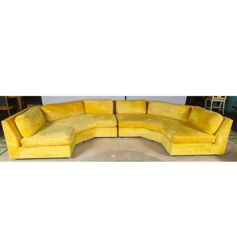American Adrian Pearsall Sectional Sofa with Two Large Ottomans by Craft Associates For Sale
