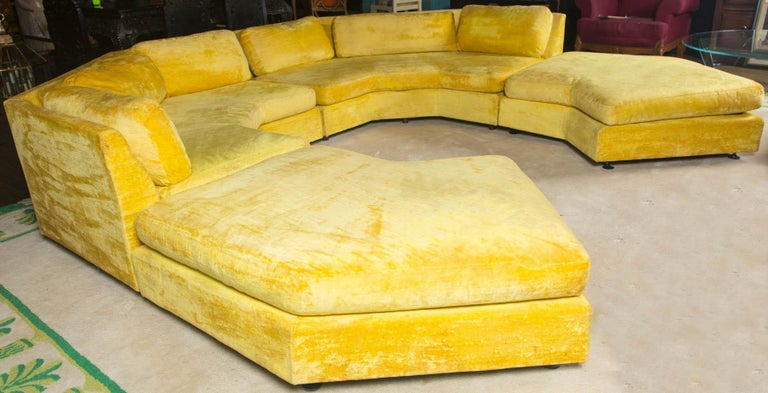 Adrian Pearsall Sectional Sofa with Two Large Ottomans by Craft Associates For Sale 4