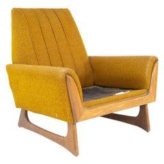 Adrian Pearsall Style Kroehler Mid Century Walnut Gondola Lounge Chair