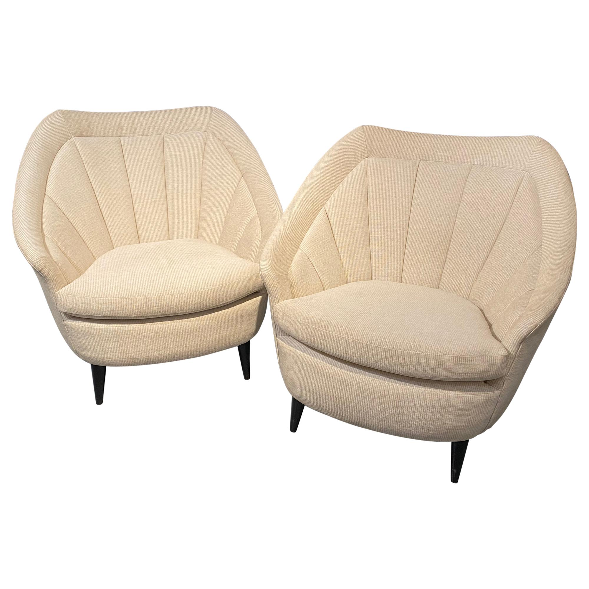 Adrian Pearsall Style Mid-Century Modern Lounge Chairs, Armchairs